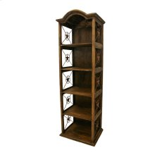 "24"" Bookcase W/Iron Stars Medio Finish"