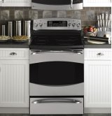 "GE Profile 30"" Free-Standing Electric Range with Warming Drawer"