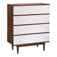 La High Chest Walnut & White