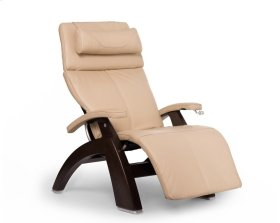 Perfect Chair PC-420 Classic Manual Plus - Ivory Premium Leather - Dark Walnut