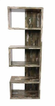 - Five tier bookcase finished in salvaged cabin- Constructed with MDF, particle board, and engineered veneer- Also available in cappuccino (#800069) and weathered grey (#800552) Product Image
