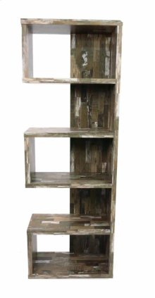 - Five tier bookcase finished in salvaged cabin- Constructed with MDF, particle board, and engineered veneer- Also available in cappuccino (#800069) and weathered grey (#800552)