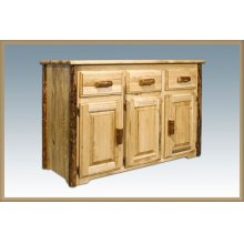 Glacier Country Log Sideboard