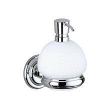 Lotion dispenser - chrome-plated