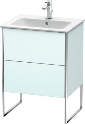 Vanity Unit Floorstanding, Light Blue Matt Decor