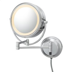Polished Nickel Double-Sided LED Lighted Mirror