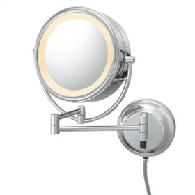 Brushed Nickel Double-Sided LED Lighted Mirror