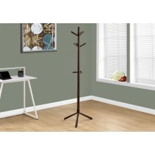"COAT RACK - 69""H / CAPPUCCINO WOOD CONTEMPORARY STYLE"