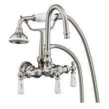 Clawfoot Tub Filler - Diverter Faucet with Code Gooseneck Spout - Oil Rubbed Bronze
