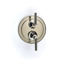 Dual Control Thermostatic With Volume Control Valve Trim Taos Series 17 Polished Nickel