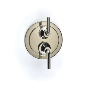 Dual Control Thermostatic with Volume Control Valve Trim River (series 17) Polished Nickel