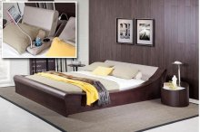 Modrest Geneva Contemporary Brown Oak & Grey Bedroom Set