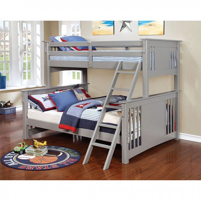 Spring Creek Twin Xl/queen Bunk Bed, Gray