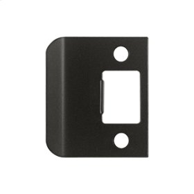 """Extended Lip Strike Plate, 2"""" Overall - Oil-rubbed Bronze"""