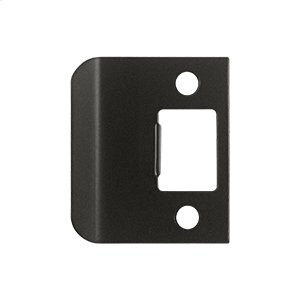 "Extended Lip Strike Plate, 2"" Overall - Oil-rubbed Bronze"