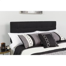 Bedford Tufted Upholstered Queen Size Headboard in Black Fabric