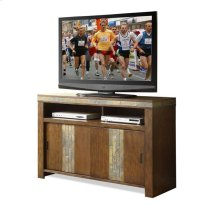 Belize TV Console Old World Distressed Pine finish