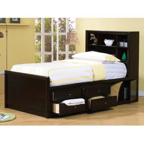 Phoenix Twin Bookcase Bed