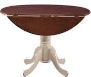 "42"" Complete Drop Leaf Table Espresso & Almond Product Image"