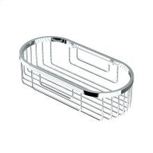 Oval Shower Basket in Chrome