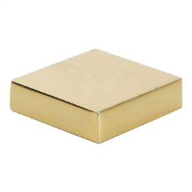 Thin Square Knob 1 1/4 Inch - French Gold