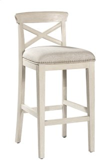 Bayview Wood X-back Non-swivel Counter Stool - White Wirebrush - 2 Stools Per Ctn