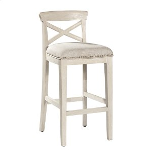 Hillsdale FurnitureBayview Wood X-back Non-swivel Counter Stool - White Wirebrush - 2 Stools Per Ctn