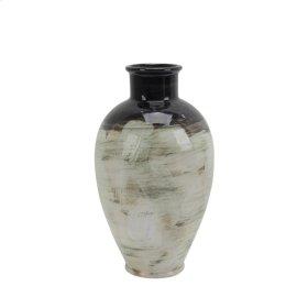 """Ceramic Vase 11.5"""", Multicolor"""