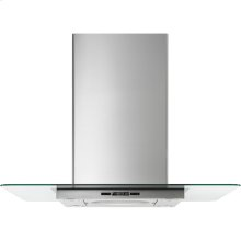 """Glass Collection Island-Mount Canopy Hood, 36"""", Euro-Style Stainless Handle"""