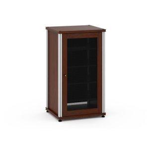 Salamander DesignsSynergy Solution 402, Single-Width AV Cabinet, Walnut with Aluminum Posts