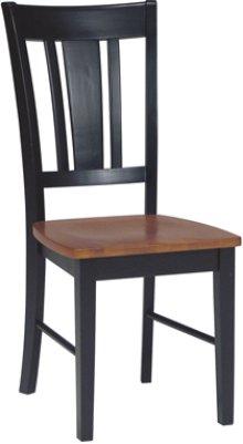 San Remo Chair Cherry & Black