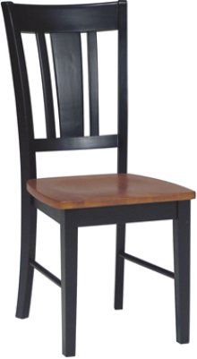 San Remo Chair Cherry & Black