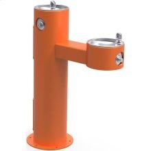 Elkay Outdoor Fountain Bi-Level Pedestal Non-Filtered, Non-Refrigerated Freeze Resistant Orange