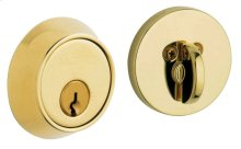 Lifetime Polished Brass Contemporary Deadbolt