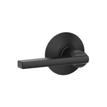 Latitude Lever Hall & Closet Lock - Matte Black