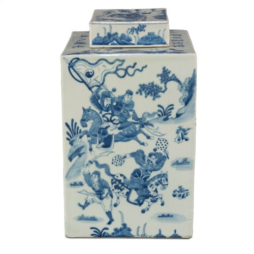 Temple Ceramic Jar W/Lid
