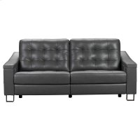 Parker Tufted Leather Power Reclining Sofa in Storm Grey Product Image