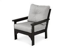 Black & Canvas Granite Vineyard Deep Seating Chair