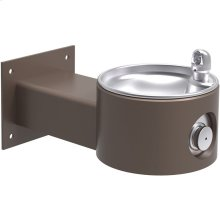 Elkay Outdoor Fountain Wall Mount, Non-Filtered Non-Refrigerated, Brown