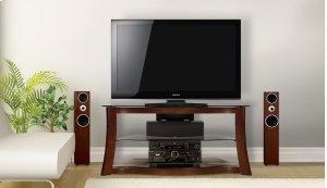 Audio/Video Furniture With Hand-painted Dark Cherry Finish