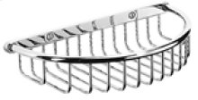 """Chrome Plate Shower basket with visible fix, 8 3/8"""" W x 1 3/4"""" D"""