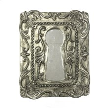 Keyhole Wall Decor W/mirror, Antique Silver
