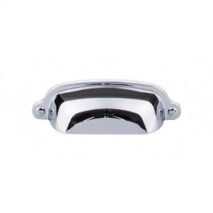 Charlotte Cup Pull 2 9/16 Inch (c-c) - Polished Chrome