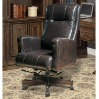 DC#103 Sable Leather Desk Chair Product Image