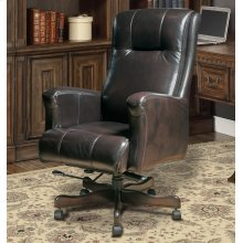 DC#103 Sable Leather Desk Chair