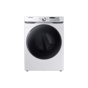 SamsungDV6100 7.5 cu. ft. Electric Dryer with Steam Sanitize+ in White