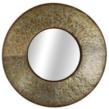 Round Galvanized Wall Mirror.