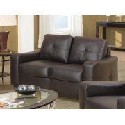 Jasmine Casual Dark Brown Loveseat Product Image