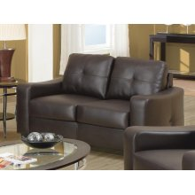 Jasmine Casual Dark Brown Loveseat