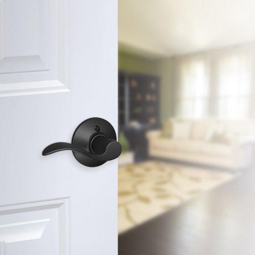 Accent Lever Non-turning Lock - Matte Black